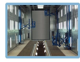 LPI Industrial Man Lifts for Paint Finishing, Paint Booth