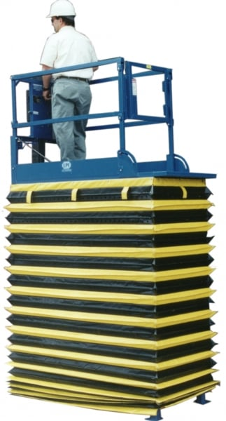 Scissor Lift with Collapsible Rail