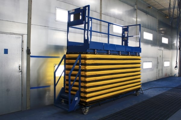 Scissor Lift with Sliding Roll Outs