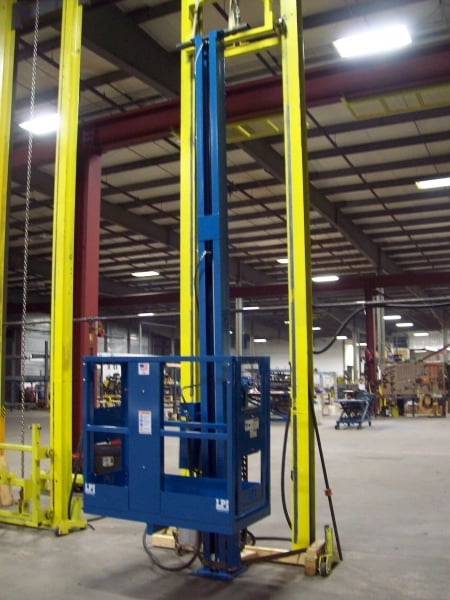 Single Axis Powder Booth Mast Lift