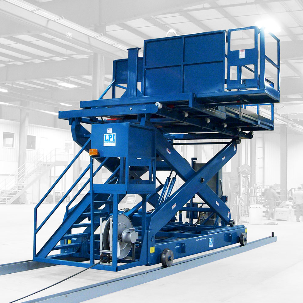 Rail Guided Scissor Lift w/ Side Shifting Platforms