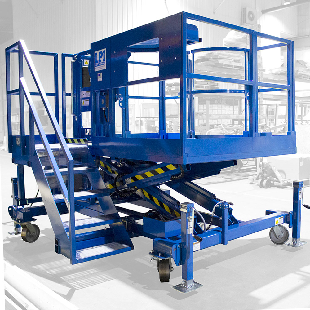 Stationary & Manually Positioned Scissor Lifts