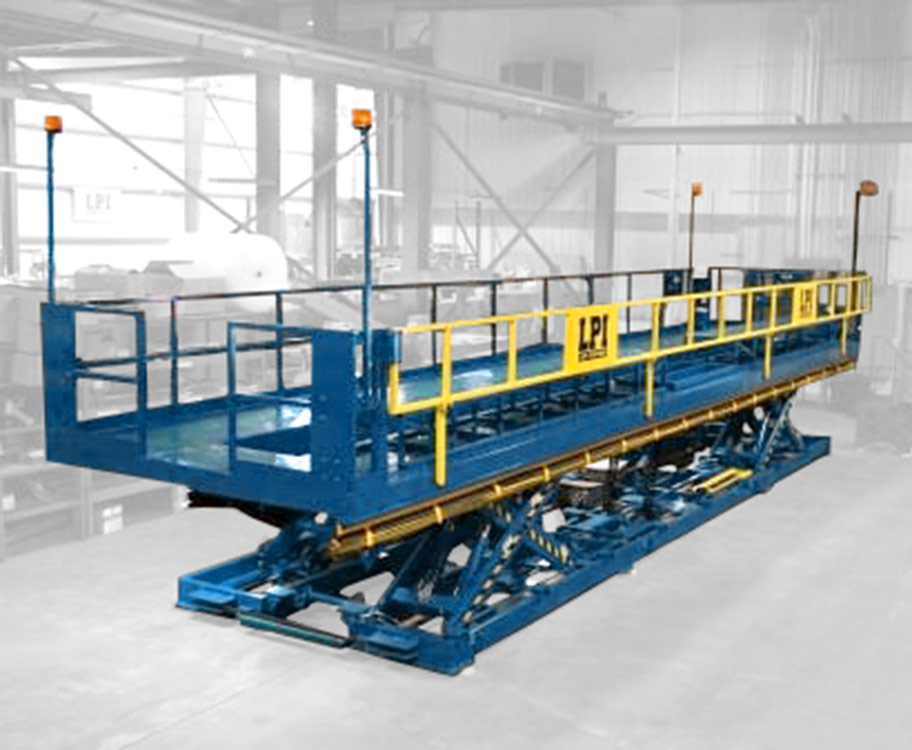 Scissor Lift Work Platform with Swing Down Rail