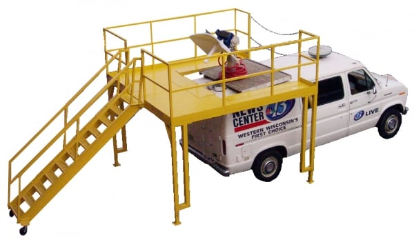 Mobile Vehicle Rooftop Service Platforms